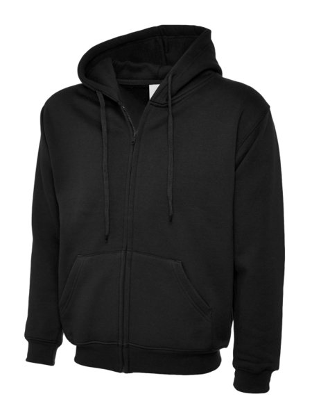 Uneek Classic Hooded Sweatshirt Met Rits UC504